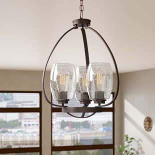 17 Stories Covey 3-Light Shaded Chandelier