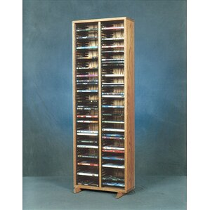 200 Series 128 DVD Multimedia Storage Rack by Wood Shed