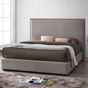 Benjamin Queen Upholstered Platform Bed by Omax Decor
