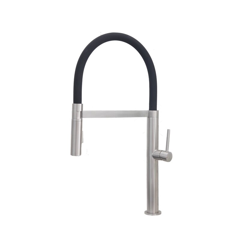 Stylish Pull Out Single Handle Kitchen Faucet Reviews Wayfair