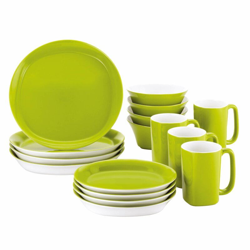 Round \u0026 Square 16 Piece Dinnerware Set Service for 4  sc 1 st  Wayfair & Rachael Ray Round \u0026 Square 16 Piece Dinnerware Set Service for 4 ...