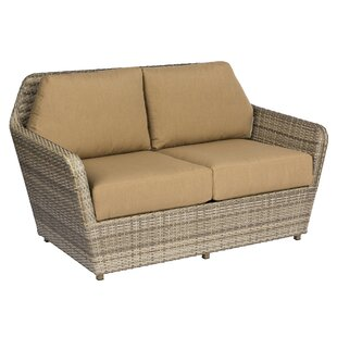 Pueblo Loveseat with Cushions by Woodard