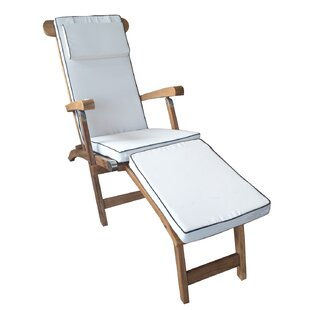 Titanic Teak Chaise Lounge with Cushion