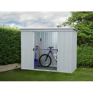 Pent 6 Ft. W X 4 Ft. D Metal Garden Shed By YardMaster