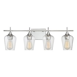 Industrial vanity lights birch lane staci 4 light vanity light mozeypictures Image collections