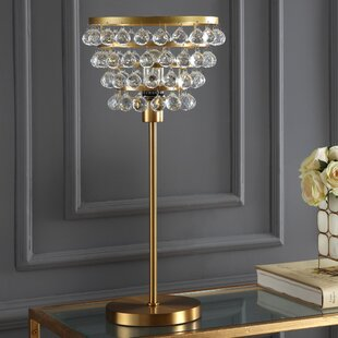 Diallo Crystal/Metal 25 Table Lamp