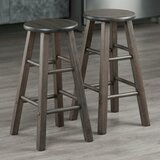 Petronille Solid Wood Counter and Bar Stool (Set of 2) by Gracie Oaks