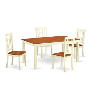 Pillar 5 Piece Dining Set August Grove
