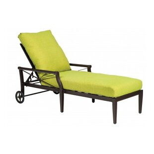 Woodard Andover Reclining Chaise Lounge with Cushion