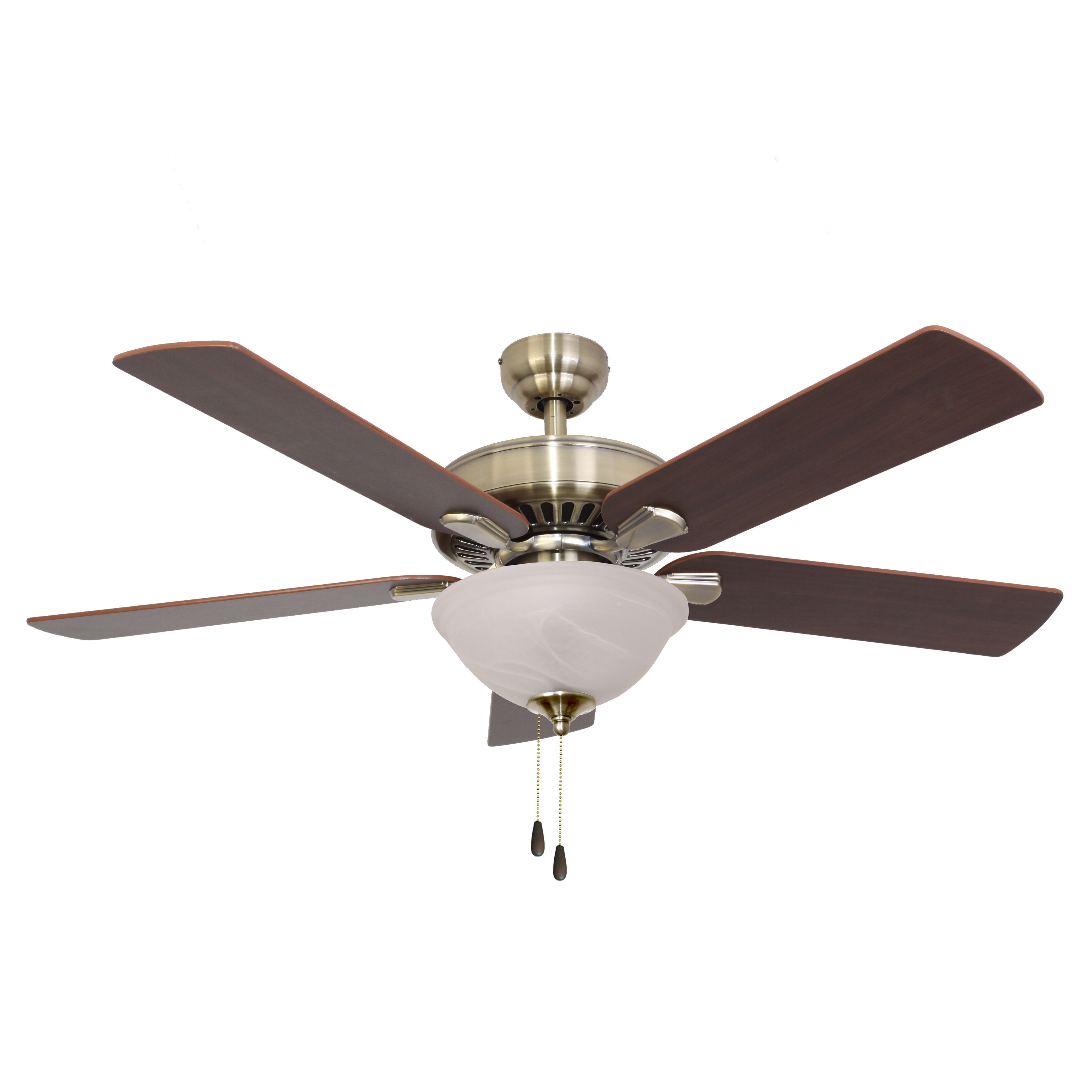 Charlton Home 52 Wilma 5 Blade Leaf Blade Ceiling Fan With Pull Chain And Light Kit Included Reviews Wayfair