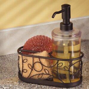 Housman Kitchen Countertop Soap Dispenser Pump, Sponge And Scrubby Caddy  Organizer