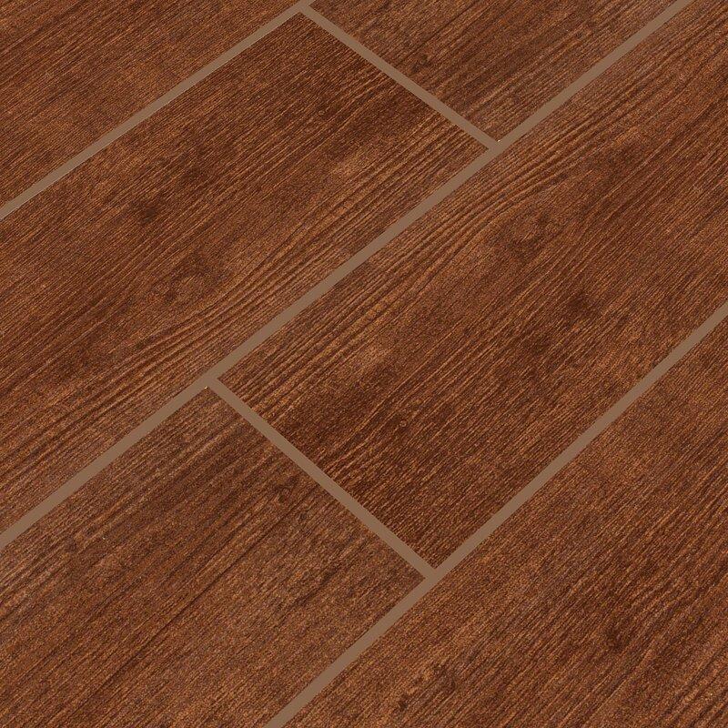 Msi Sonoma Oak 6 X 24 Ceramic Wood Tile In Brown Reviews Wayfair