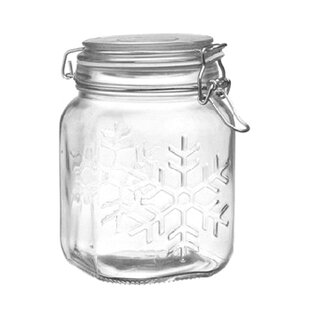 Snowflake Bail and Trigger 1.16 qt. Storage Jar