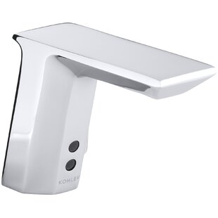 Kohler Geometric Single-Hole Touchless Hybrid Energy Cell-Powered Commercial Bathroom Sink Faucet with Insight Technology and 6-3/4