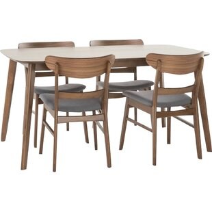 Yolanda 5 Piece Rubberwood Dining Set Langley Street