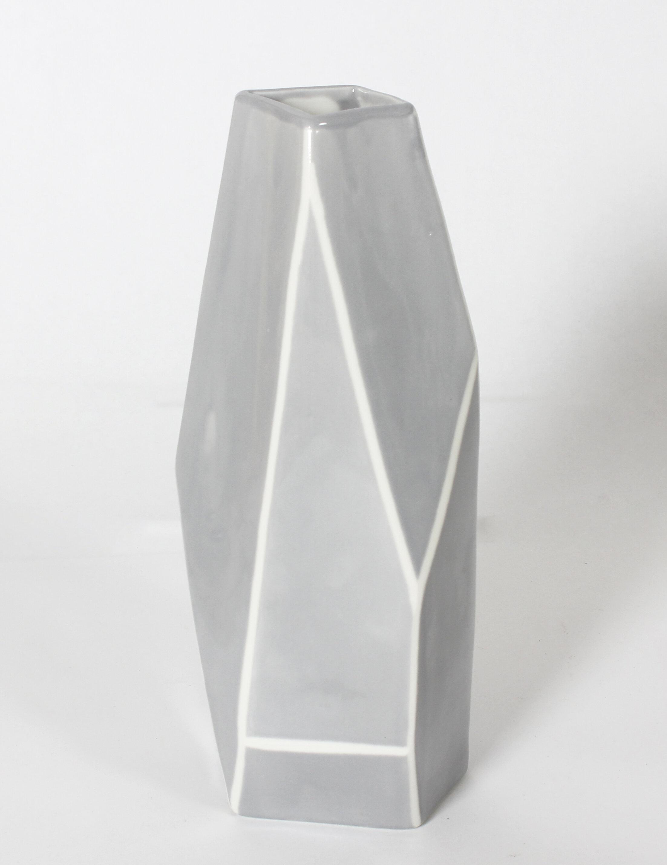 Union Rustic Barbeau Geometric Ceramic Table Vase Wayfair