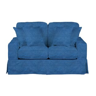Oxalis Slipcovered Loveseat