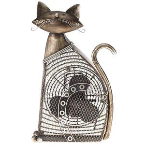 Cat Figurine Table Fan