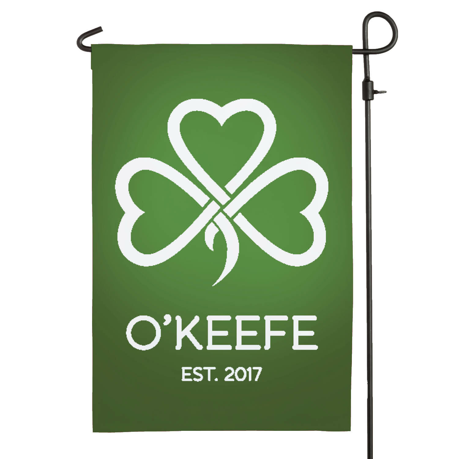 Cps Shamrock Personalized Polyester 18 X 12 In Garden Flag Wayfair