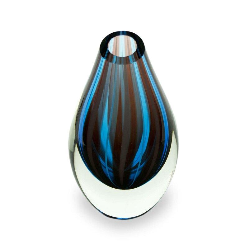 Bloomsbury Market Bernina Mystic Handblown Art Glass Table Vase