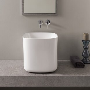 Reviews Moon Ceramic Square Vessel Bathroom Sink By Scarabeo by Nameeks