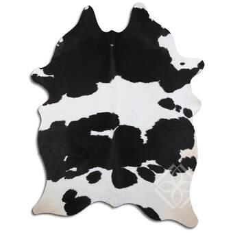 Loon Peak Natural Hair Handmade Cowhide Black White Area Rug Wayfair