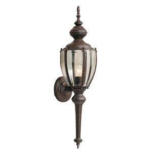 Mahalia Traditional 1-Light Outdoor Wall lantern by Red Barrel Studio