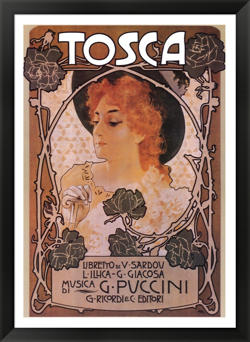 Evive Designs Tosca Framed Vintage Advertisement Wayfair