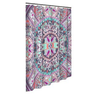 Best Price Verdell Boho Boutique Cotton Shower Curtain By Bungalow Rose