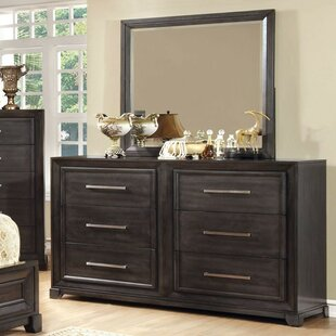Ollie 6 Drawer Double Dresser with Mirror