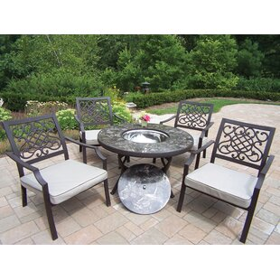 Stone Art 5 Piece Conversation Set with Cushions