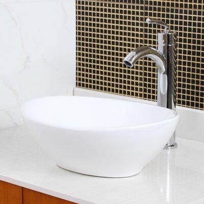 Bathroom Sinks Oval elite ceramic oval vessel bathroom sink & reviews | wayfair