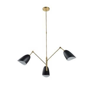 Order Kupang Triple Arm  LED  Chandelier By Wrought Studio