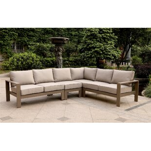 Otega 4 Piece Sectional Set with Cushions by Orren Ellis