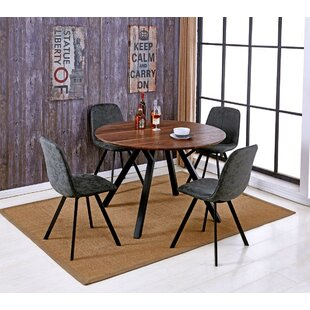 Malmo Design Round Table 5 Piece Solid Wood Dining Set Williston Forge