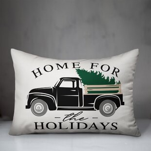 Cruce Home For The Holidays Truck Lumbar Pillow By The Holiday Aisle