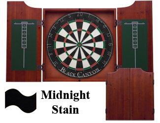 Dart Board Cabinet in Midnight Black Canyon