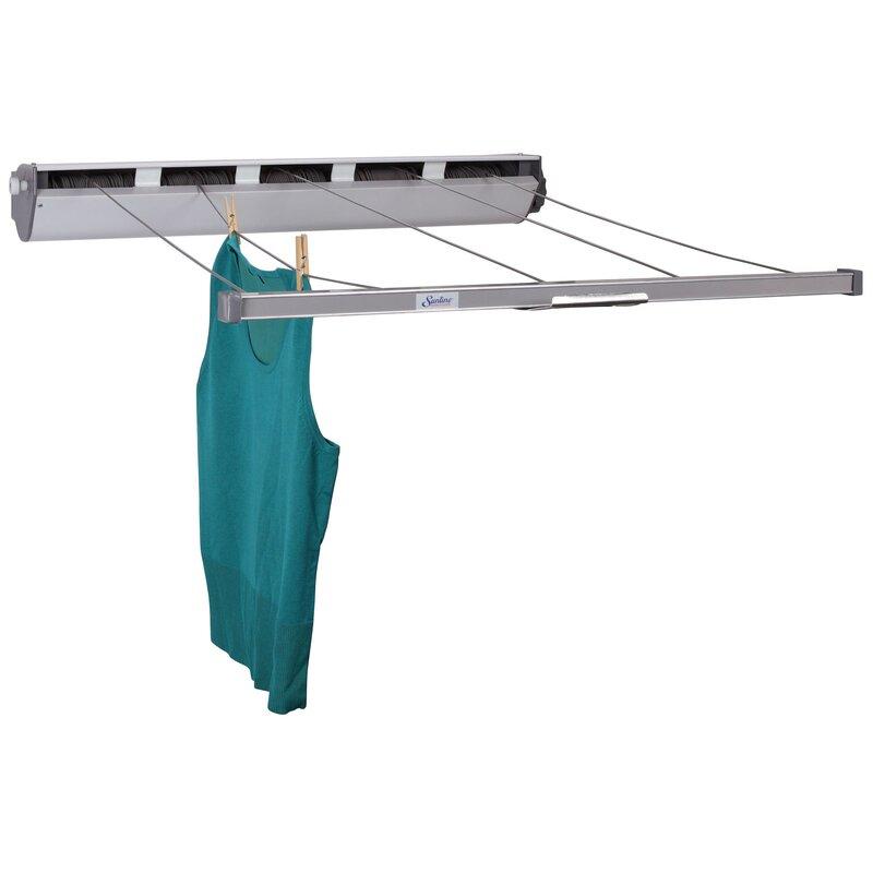 5 Line Aluminum Indoor/Outdoor Retractable Clothesline