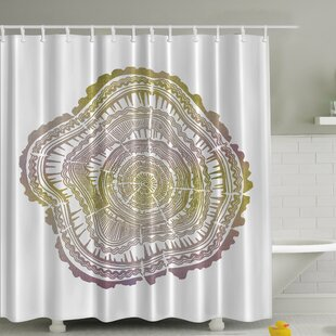 Tree Age Rings Print Single Shower Curtain