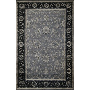 Inexpensive Beverley Black/Gray Area Rug By Darby Home Co