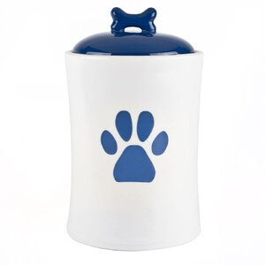American Kennel Club Paw Print Pet Treat Jar