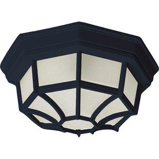 Charlton Home Berryville LED Outdoor Bulkhead Light