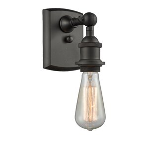 Read Reviews Briele Bare Bulb 1-Light Armed Sconce By 17 Stories