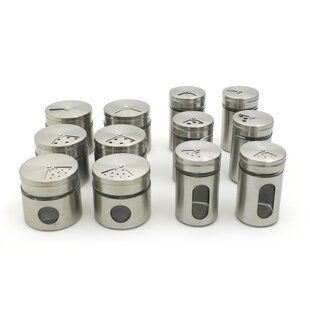Cleckheat Set of 12 Spice Jars