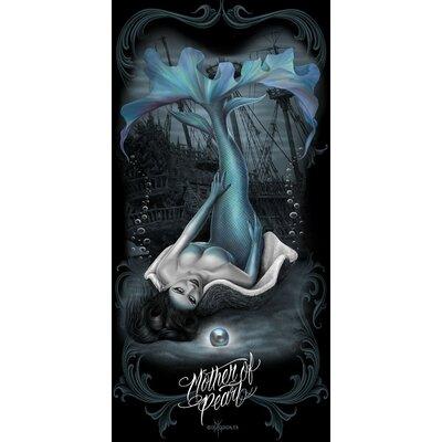 Royal Plush Dark Mermaid Mother Of Pearl Beach Towel Ben And Jonah