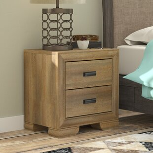 Campbell Contemporary 2 Drawer Nightstand