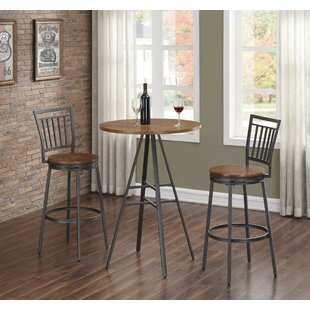 Pierce 3 PC Pub Table Set Wrought Studio