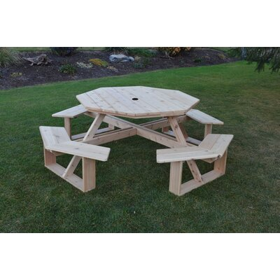 Sirna Picnic Table August Grove Color: Natural Stain