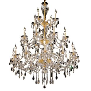 Astoria Grand Schroeppel 24-Light Candle Style Chandelier