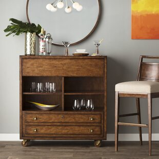 Langley Street Copper Canyon 1 Drawer Mobile Bar